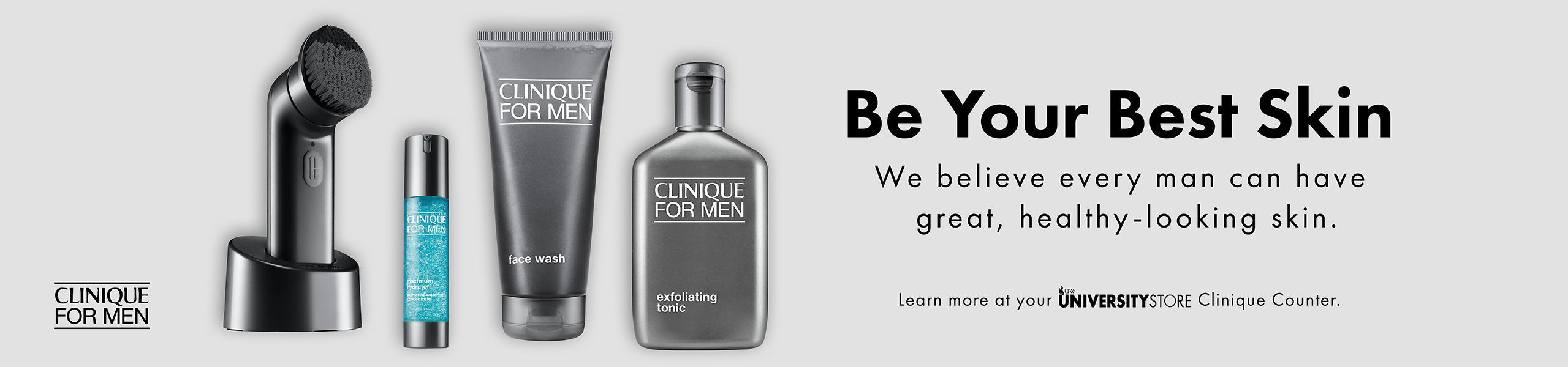 Come Check out Clinique's line for men!
