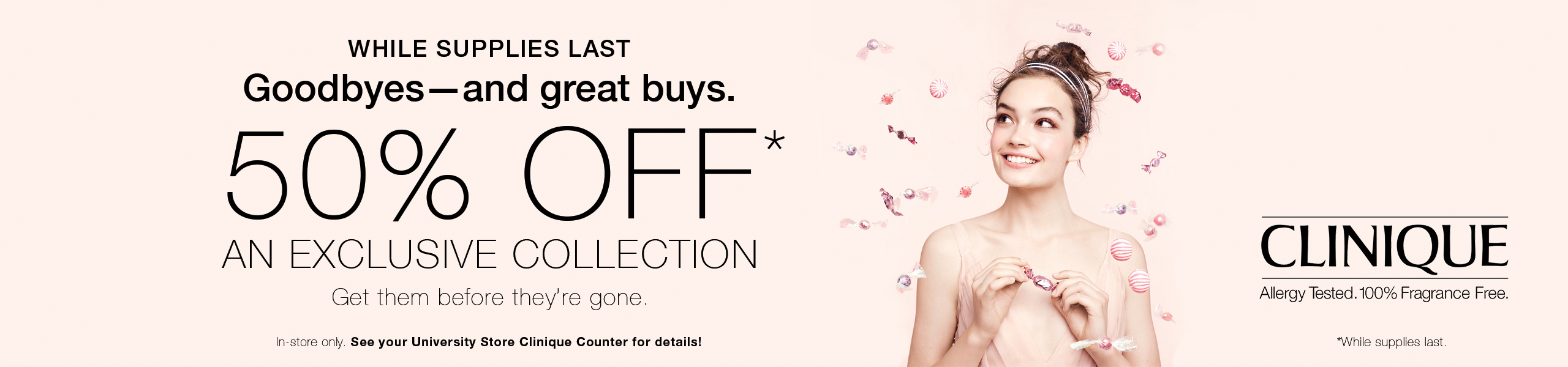 Come see Clinique's Flash Sale!
