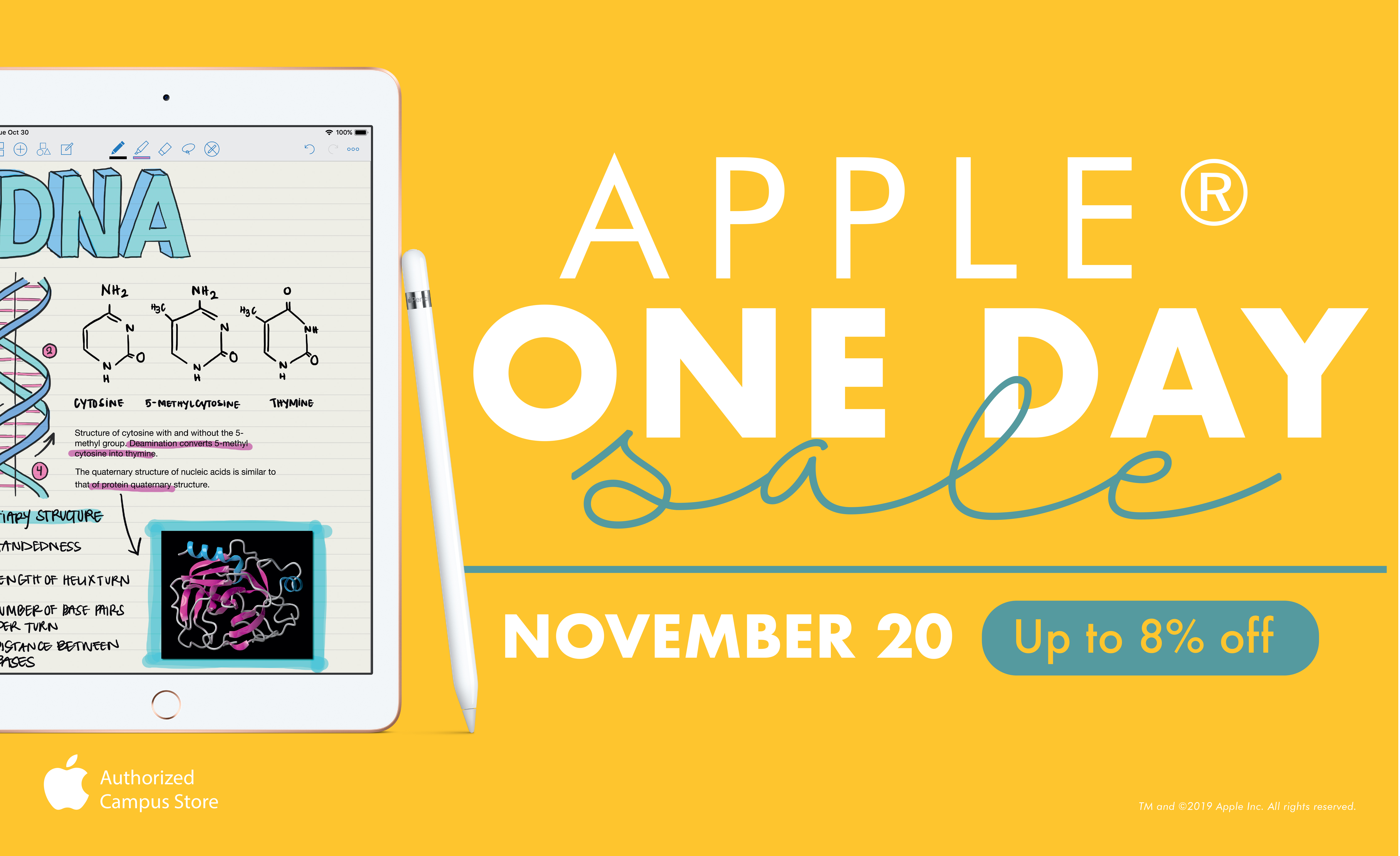 Apple One Day Sale. Nov 20th. Up to 8% off.