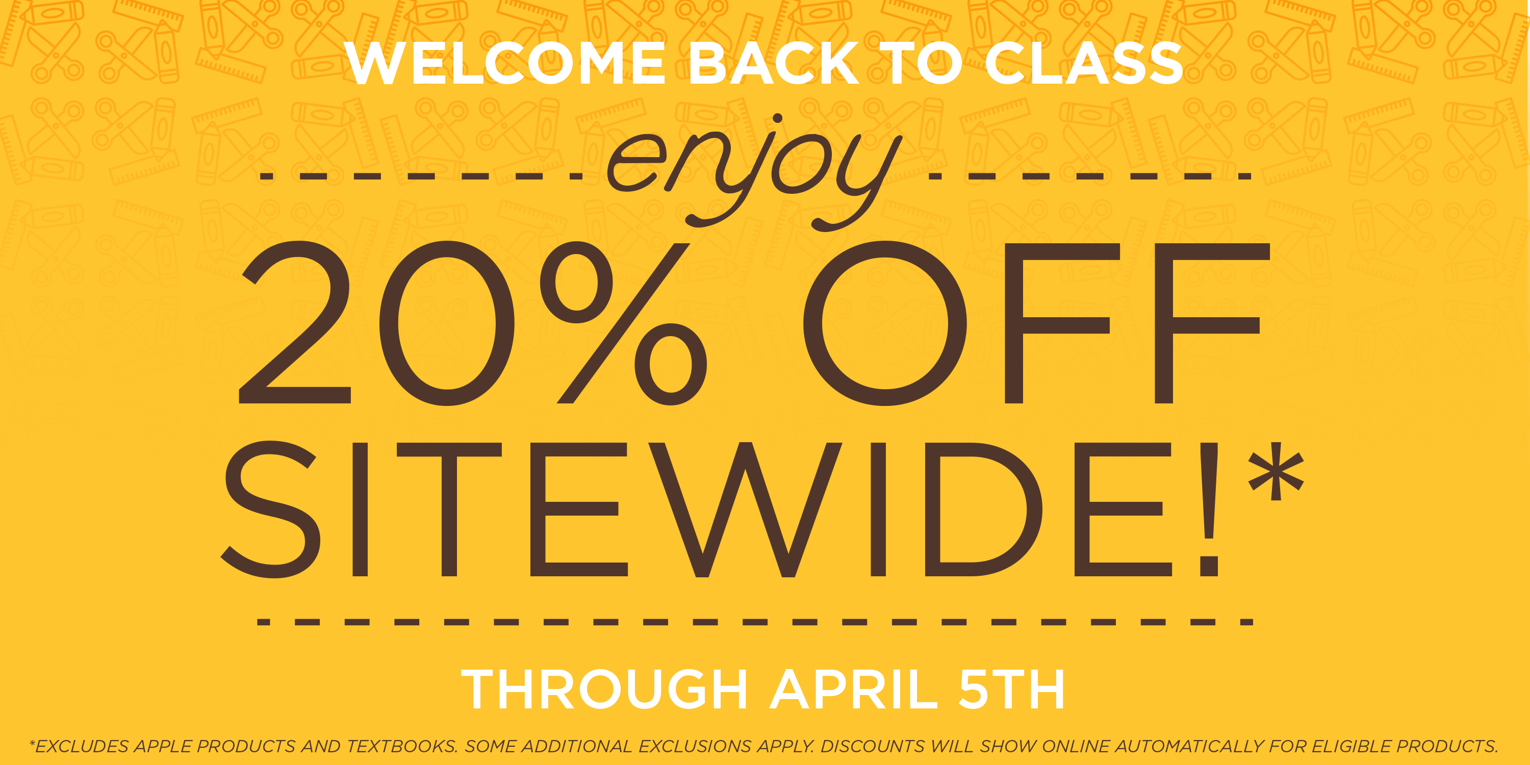 Welcome Back Sale