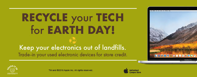 Recycle your tech for Earth Day!