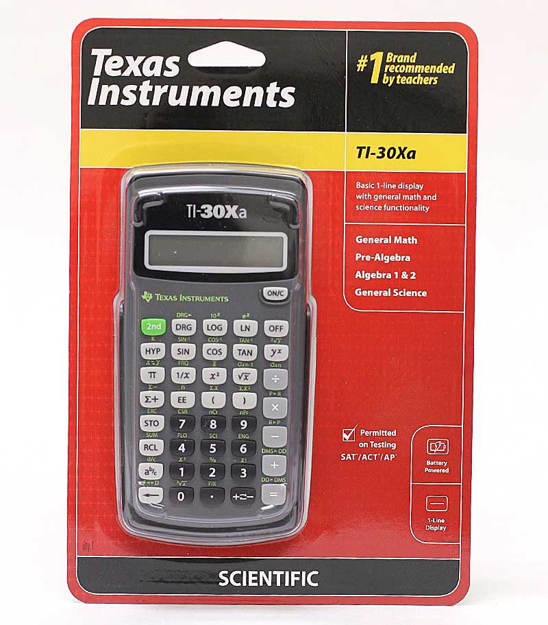 Ti30xa Math And Science Calculator