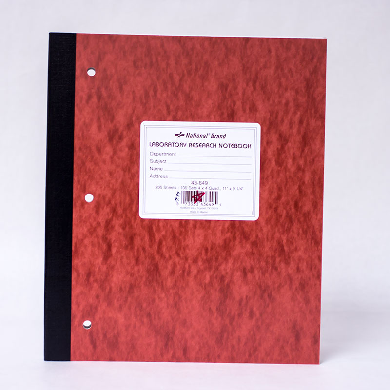 200 Sheet Lab Notebook