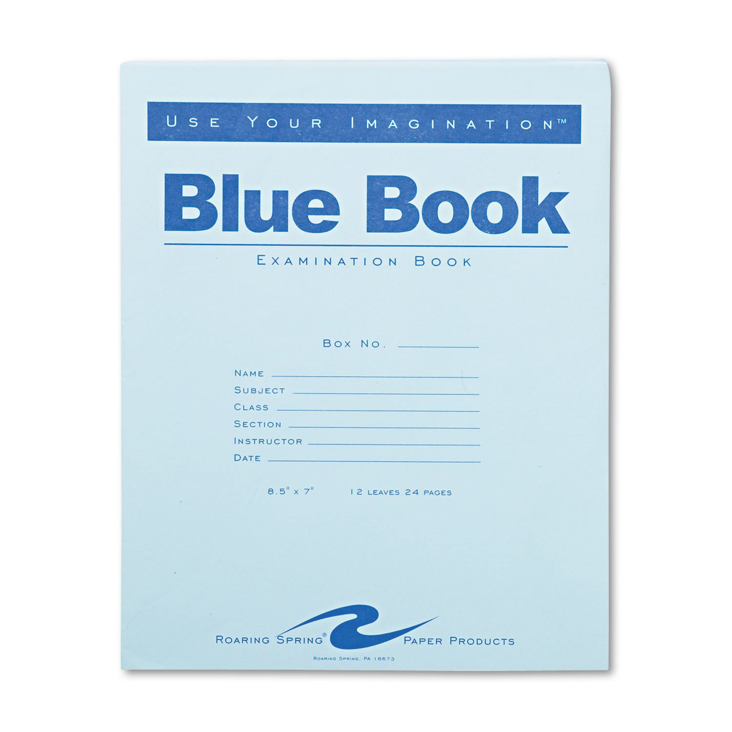 Large Blue Examination Book