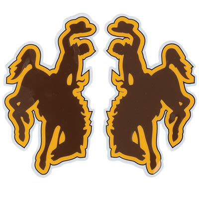 Official Helmet Bucking Horse Decals