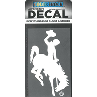 CDI Corp. Colorshock™ Bucking Horse Oversized White Right Facing Decal