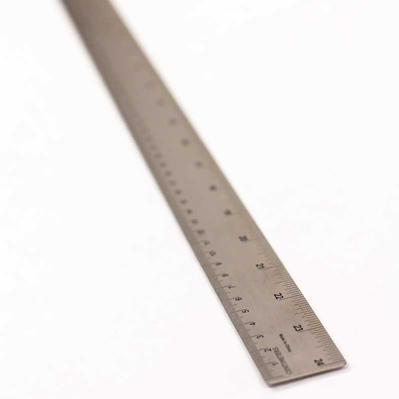 Stainless Steel Ruler With Cork 24""
