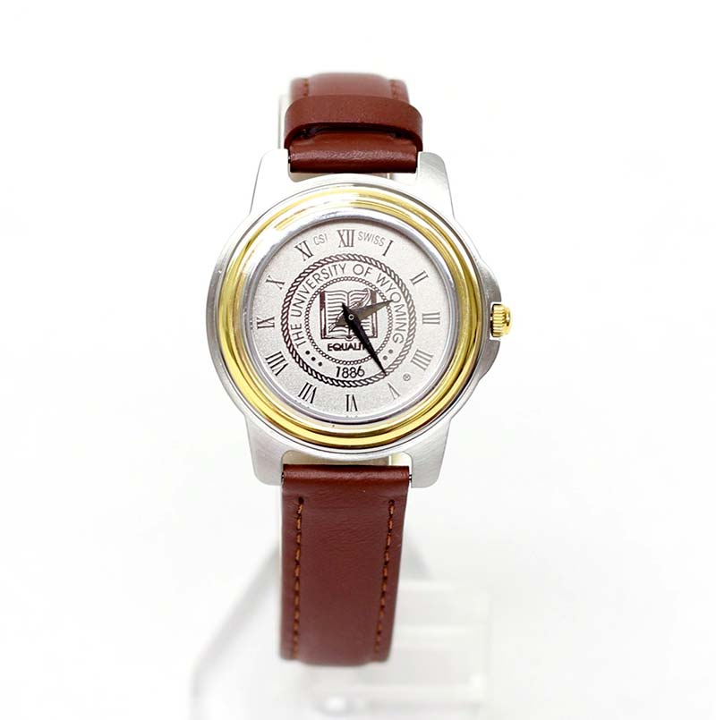 Ladies Two-Tone University Seal Leather Watch