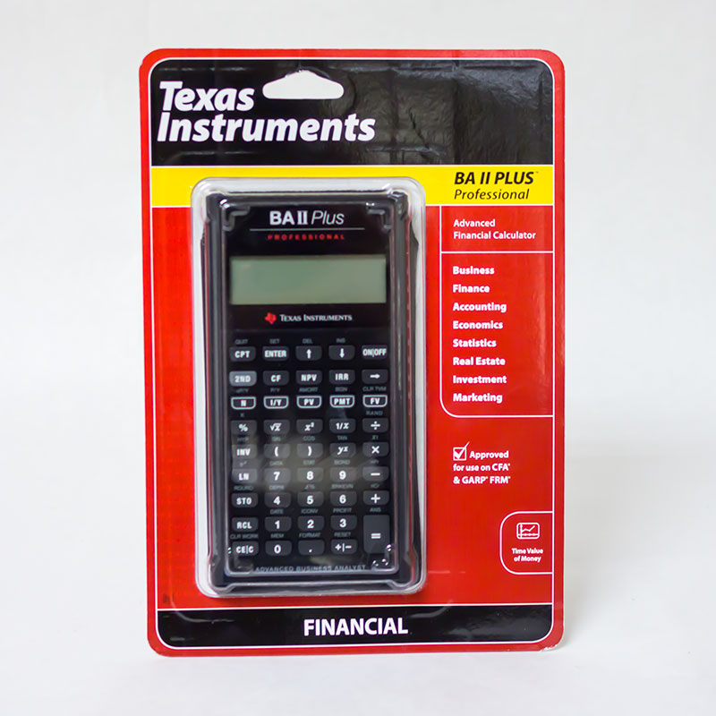 Texas Instruments® Ba Ii Plus Professional (SKU 126331801132)