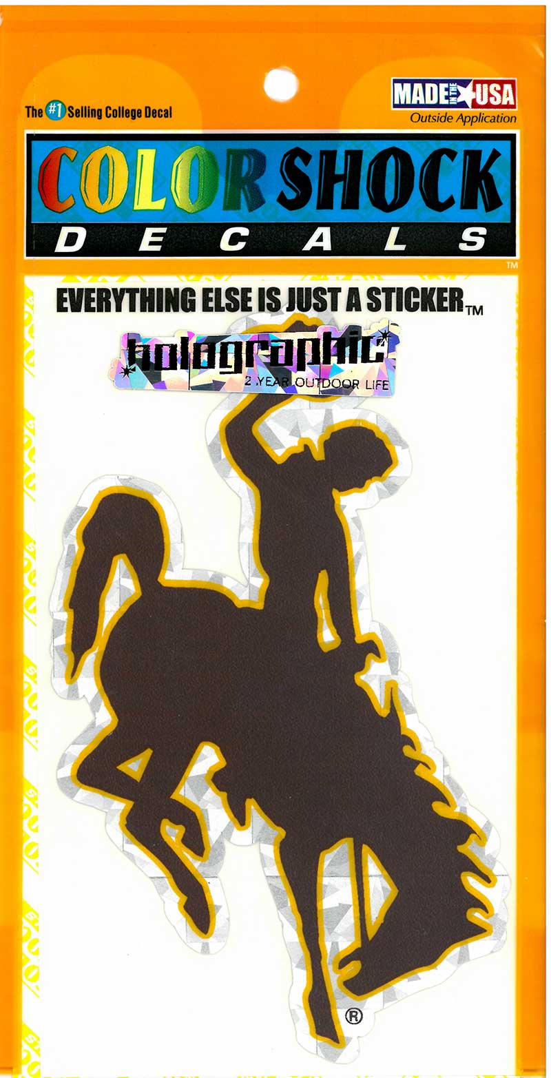 CDI Corp. Colorshock™ Bucking Horse Holographic Decal