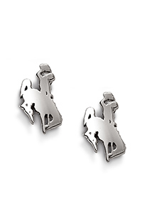 Sterling Silver Bucking Horse Post Earrings