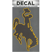 CDI Corp. Colorshock™ Bucking Horse Oversized Brown/Gold Right Facing Decal