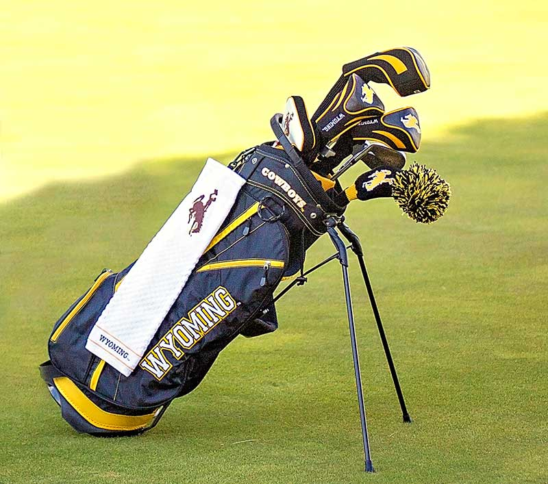 Wyoming Cowboys Golf Bag With Stand