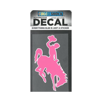 CDI Corp. Colorshock™ Bucking Horse Pink Right Facing Decal