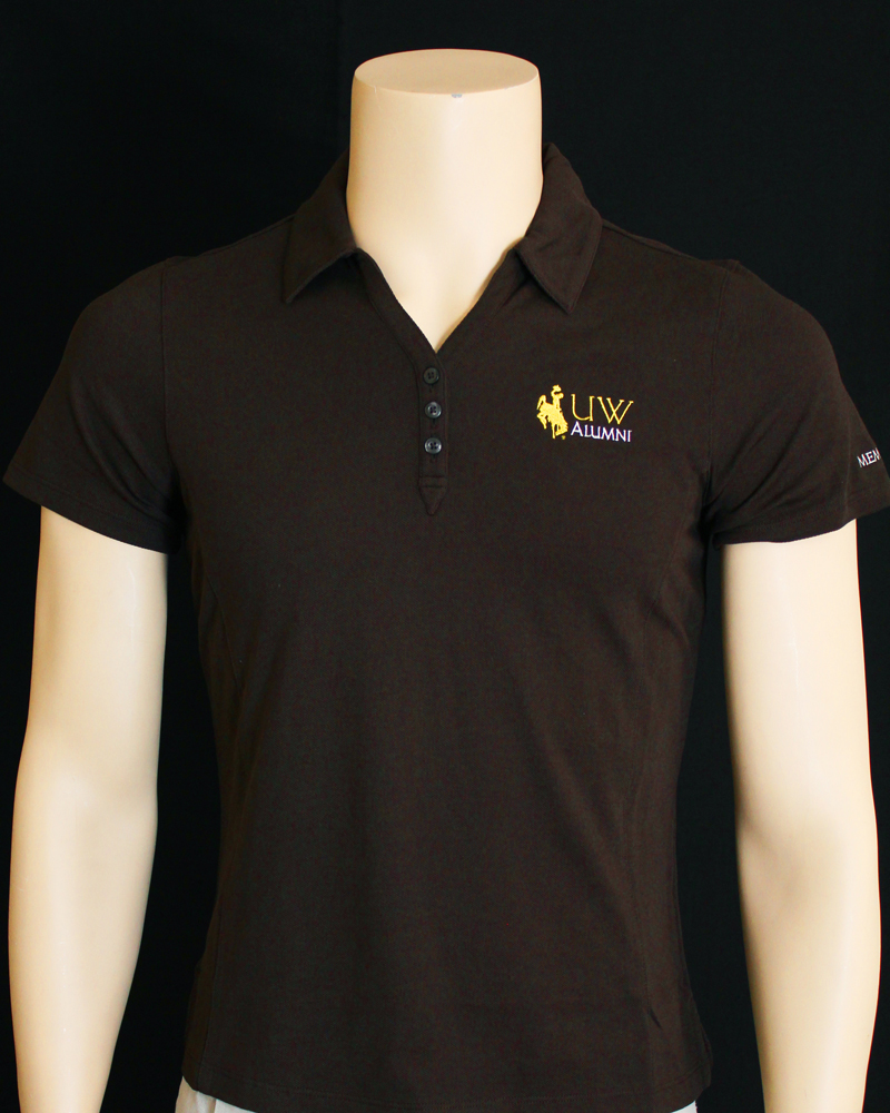 Women's Uw Alumni Polo W/ Bucking Horse