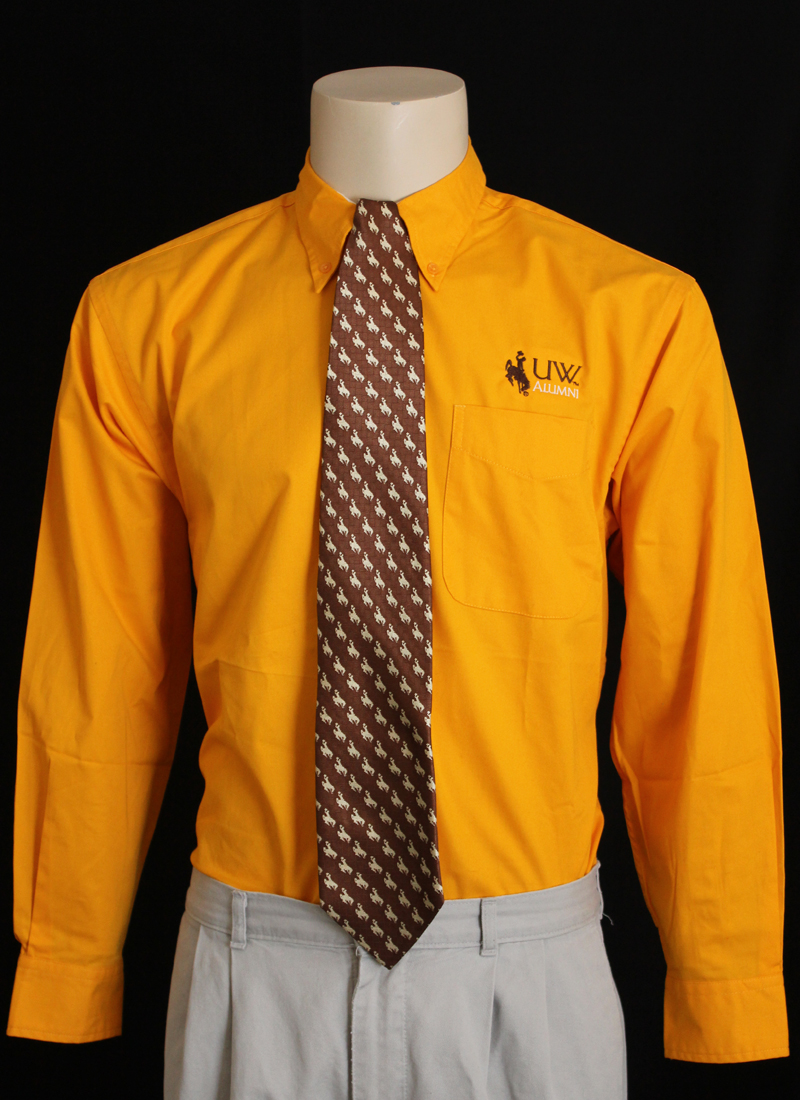 "Long-Sleeve Button-Up Collared ""Uw Alumni"" Shirt"