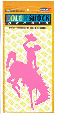CDI Corp. Colorshock™ Bucking Horse Oversized Pink Right Facing Decal