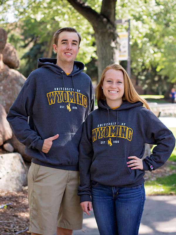 Embroidered University Of Wyoming Hoodie (SKU 130542811169)