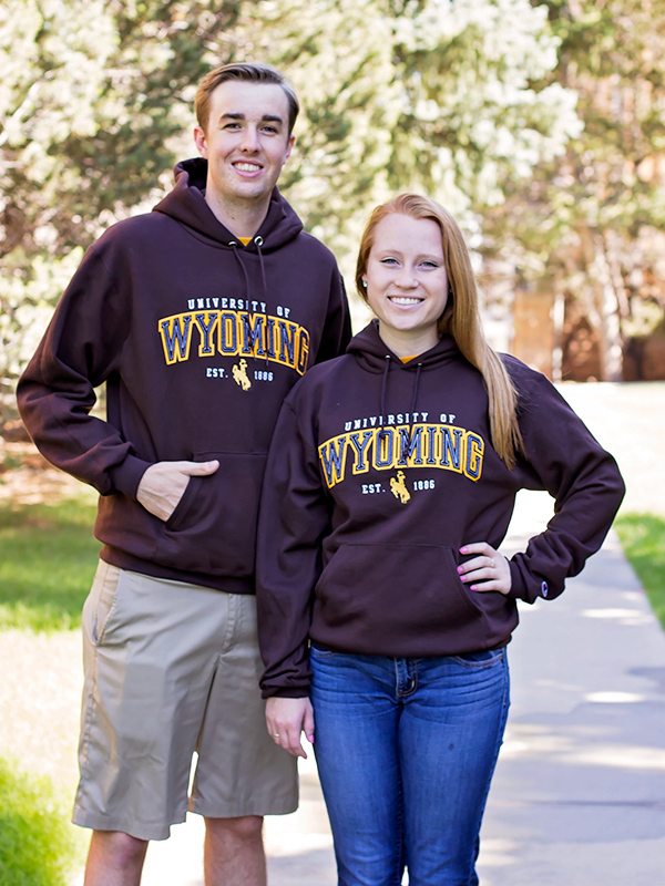 Champion  Embroidered University Of Wyoming Hoodie