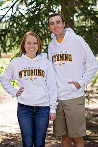 Embroidered University of Wyoming Hoodie