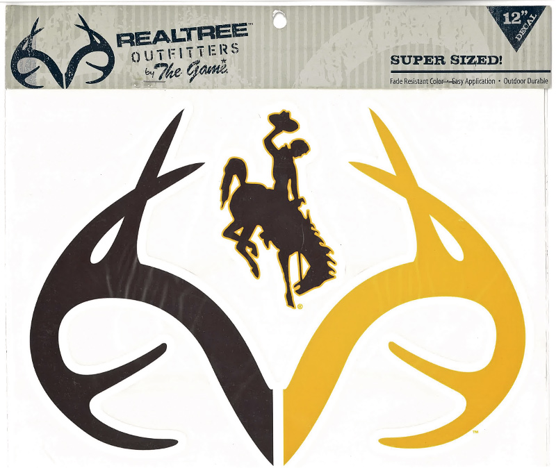 Realtree Brown & Gold Bucking Horse & Antlers Deca (SKU 133518541318)