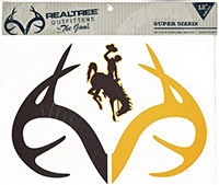 Realtree Brown & Gold Bucking Horse & Antlers Deca