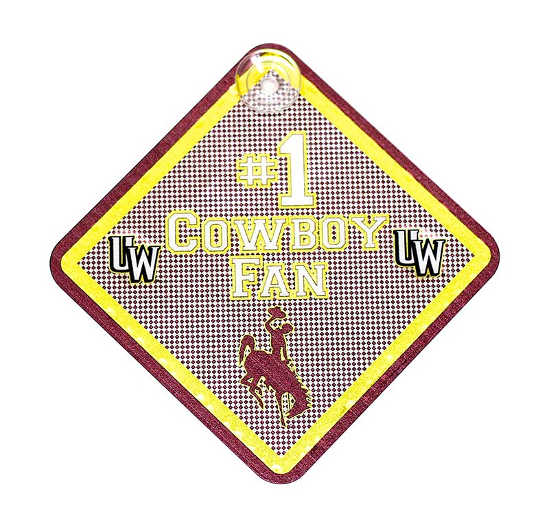 #1 Cowboy Fan Suction Cup Sign