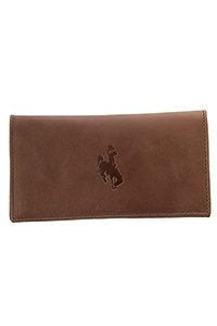 Embossed Checkbook Cover Leather