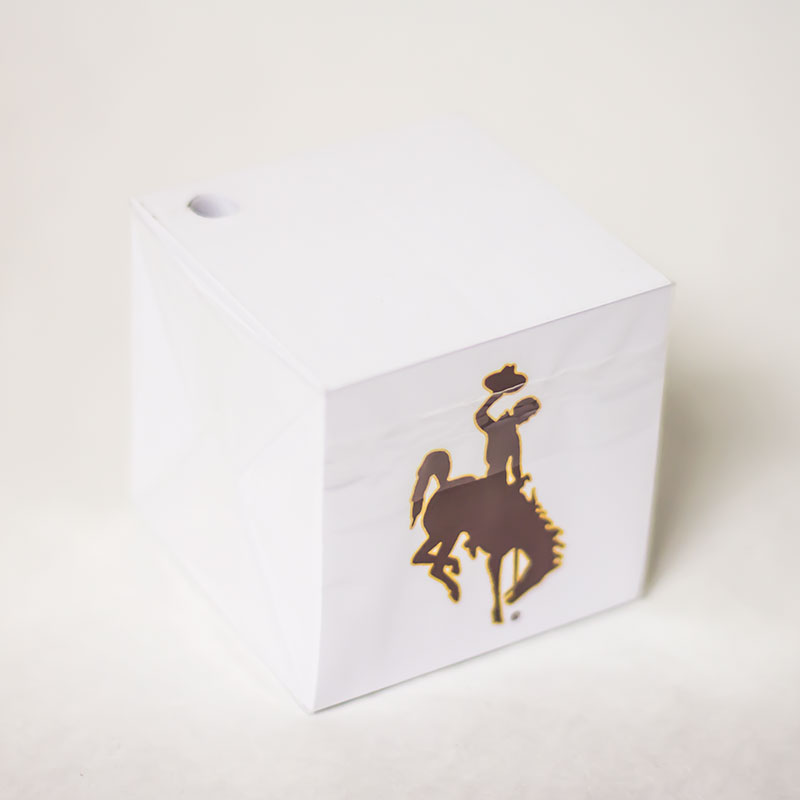 Bucking Horse Post-It Cube With Pencil Holder