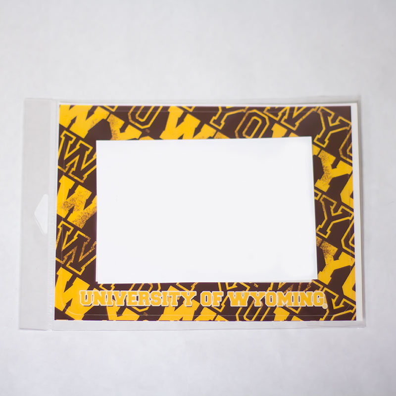 Peel & Stick Reusable Univeristy Of Wyoming Frame
