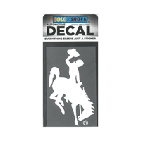 CDI Corp. Colorshock™ Bucking Horse White Right Facing Decal