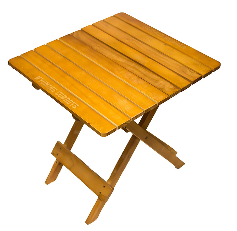 Wyoming Cowboys Artisan Tailgate Table
