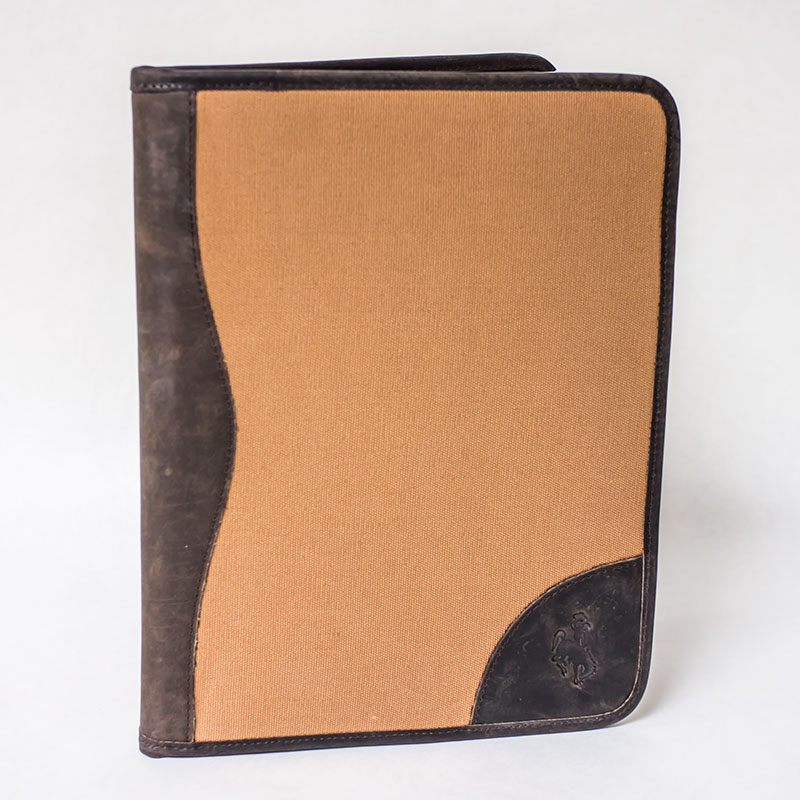 Canvas & Leather Pad Holder