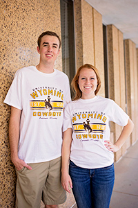 Champion® University of Wyoming Cowboys Laramie, WY Short Sleeve Tee