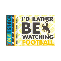 CDI Corp. Colorshock™ I'd Rather Be Watching Football Decal