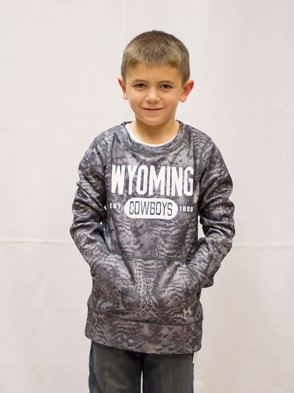 Youth Under Armour® Patterned Crewneck