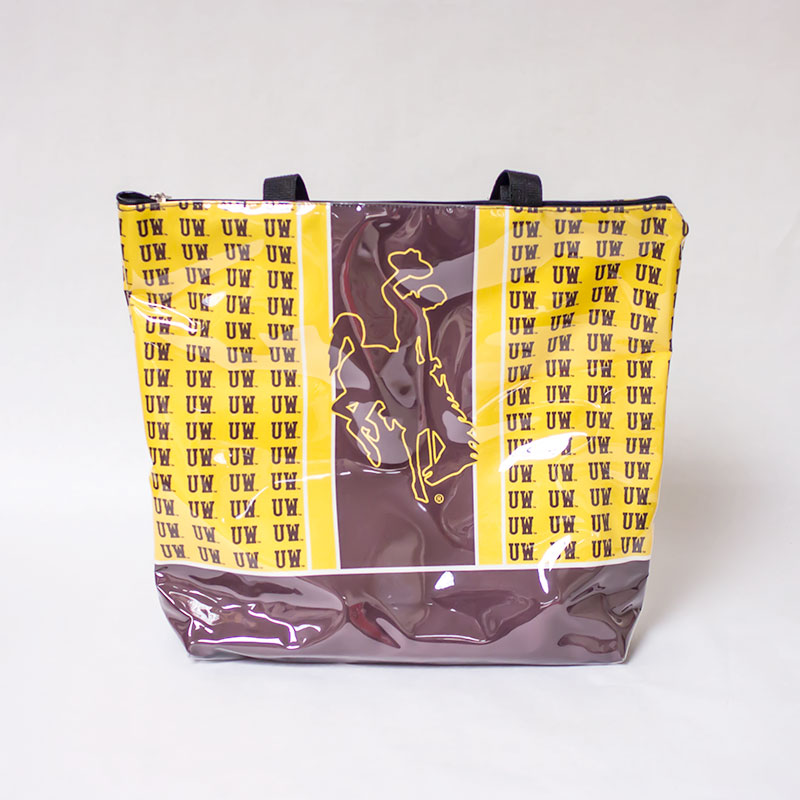 "Repeating ""Uw"" With Bucking Horse Tote"