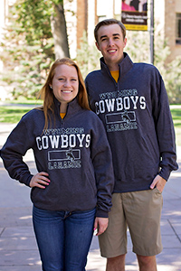 1/4 Zip Wyoming Cowboys Bucking Horse Sweatshirt