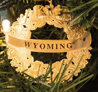 Wyoming Wreath Ornament