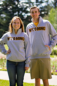 Champion® 1/4 Zip With Embroidered Wyoming