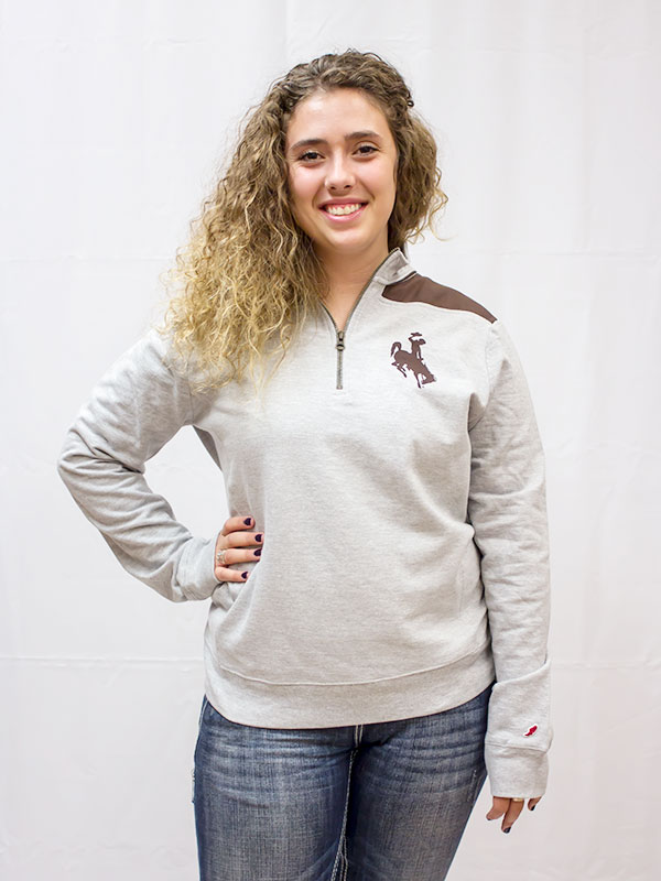 1/4 Zip Phys Ed With Wyoming Back Sweater