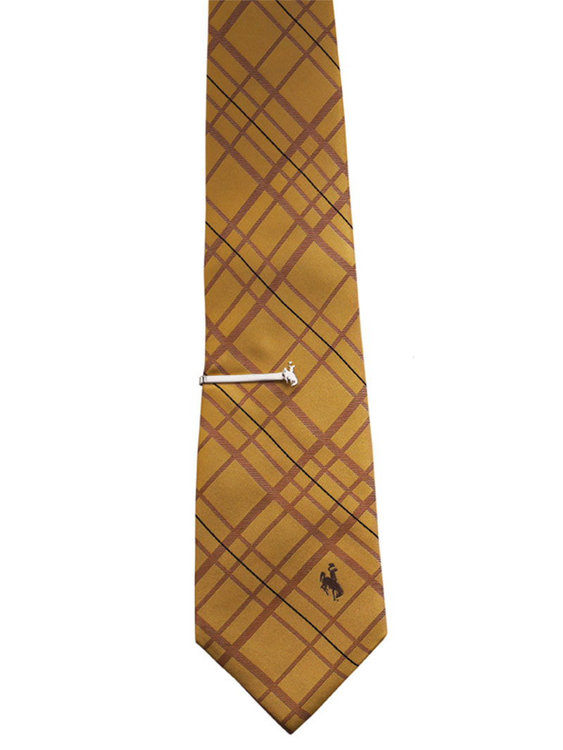 Light Gold Woven Polyester Tie