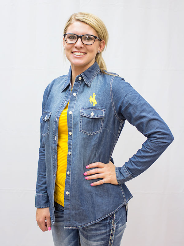 Ladies Chambray Button Down