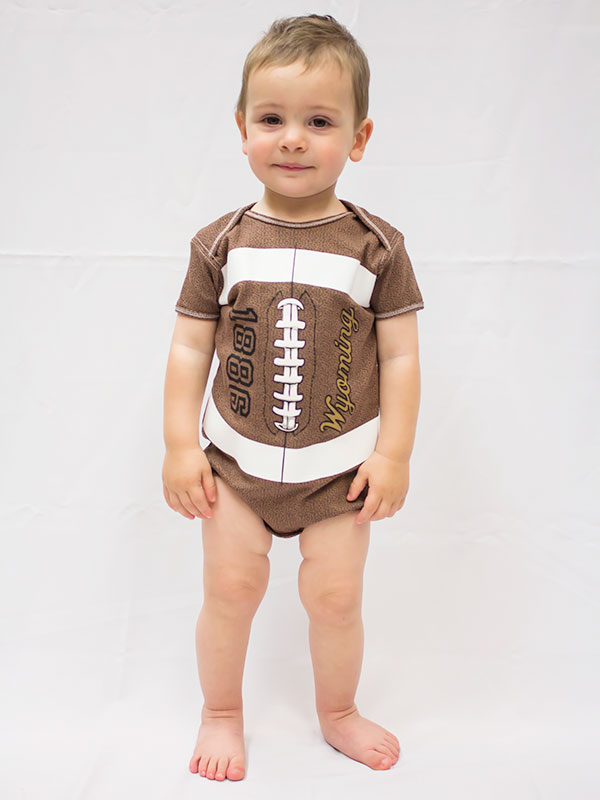 Football Bodysuit With 1886 Wyoming