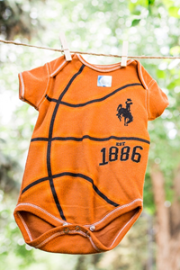 College Kids Basketball Onesie