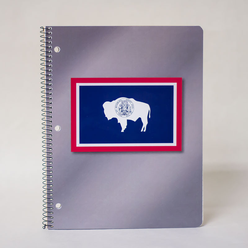 Wyoming State Flag Spiral Notebook