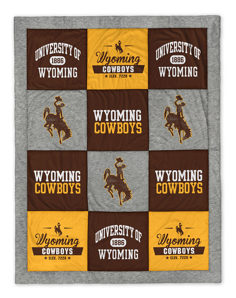 University of Wyoming T-Shirt Quilt Blanket