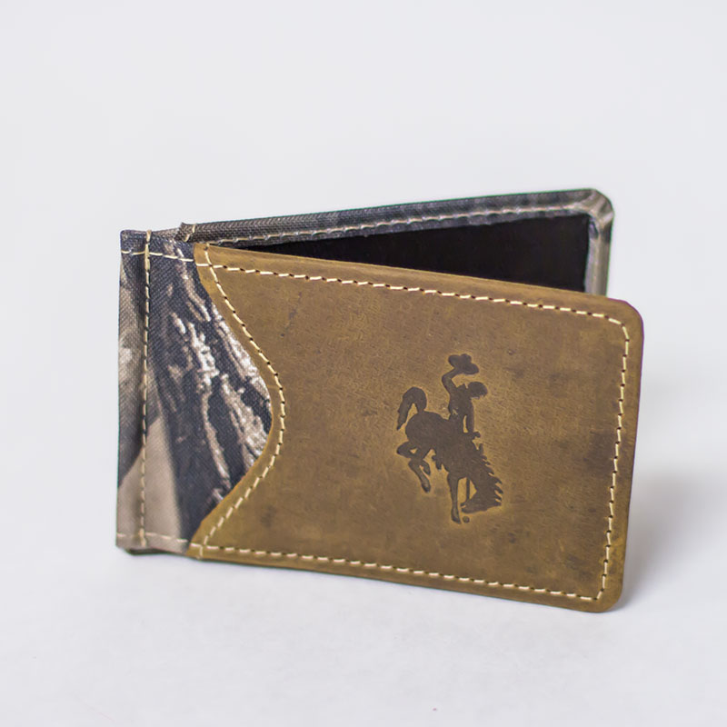Real Tree Camo Money Clip With Bucking Horse