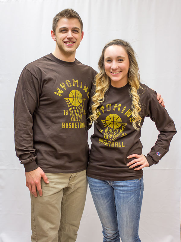 Long Sleeve Wyoming Basketball 1886 Tee