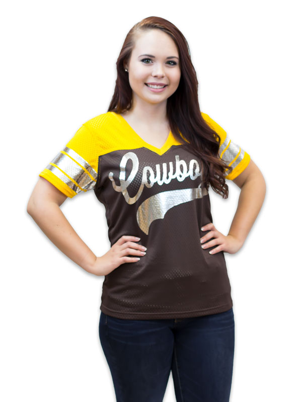 Ladies Jersey With Silver Foil Cowboys